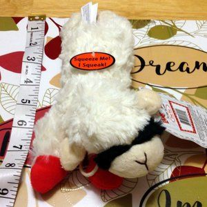 New Lamb Chop Dog Toy, squeaks!